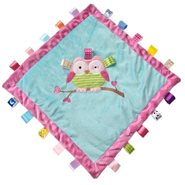 Mary Meyer Oodles Owl Cozy Tag Blanket - Thumbnail 0