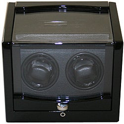 Rocket Black Finish Wood Double Watch Winder