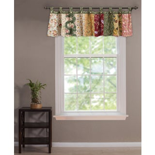 Greenland Home Fashions Antique Chic Patchwork Valance