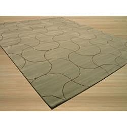 Hand Tufted Santana Abstract Wool Rug (5' x 8') - Thumbnail 1