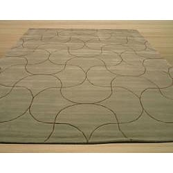 Hand Tufted Santana Abstract Wool Rug (5' x 8') - Thumbnail 2