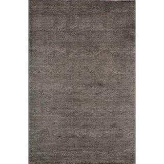 "Loft Studio Charcoal Hand-Loomed Wool Rug (7'6"" x 9'6"")"