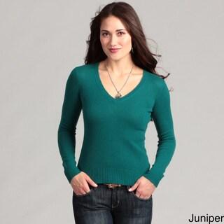 Cullen Women's Cashmere Basic V-neck Sweater