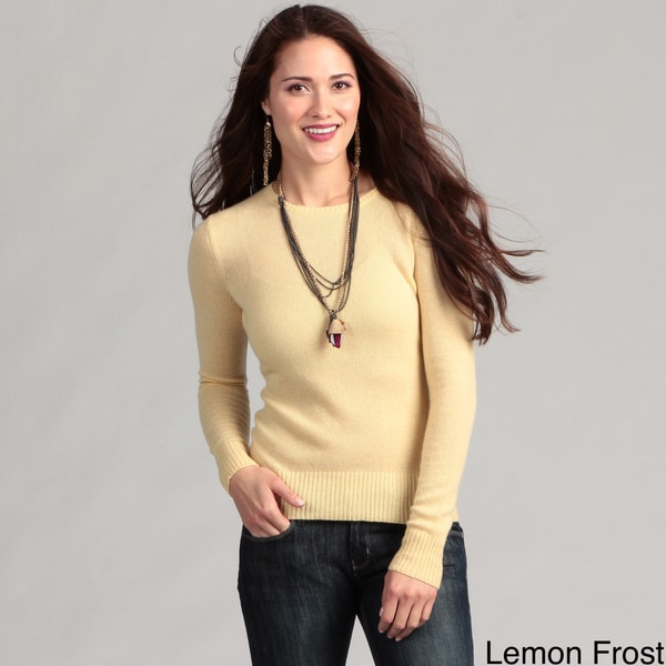 Cullen Women's Cashmere Basic Crew Neck Sweater