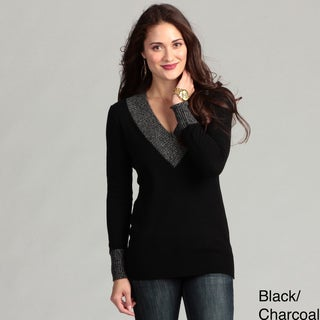 Cullen Women's Cashmere V-neck Long Sleeve Top