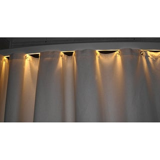 Ultimate Shower Beige Rod With Light Bar