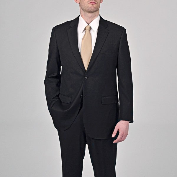 Caravelli Italy Men's 'Superior 150' Black 2-button Suit