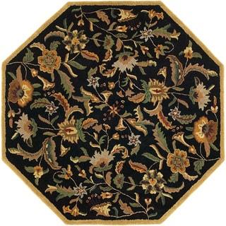 Hand Tufted Paradise Black Wool Rug (8' x 8')