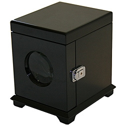 Rocket Black Carbon Fiber Single Watch Winder - Thumbnail 0