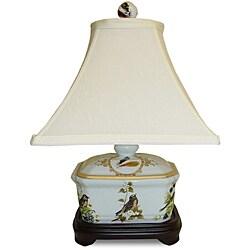 Secret Garden Birds Cover Box Porcelain Lamp