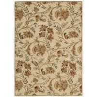 Nourison Hand-tufted Firenze Ivory Rug (5'3 x 7'4) - 5'3 x 7'4
