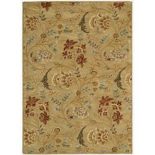 Nourison Hand-tufted Firenze Gold Rug (5'3 x 7'4)