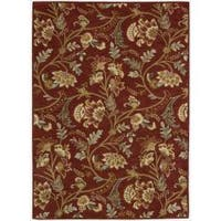 Nourison Hand-tufted Firenze Red Rug (5'3 x 7'4) - 5'3 x 7'4