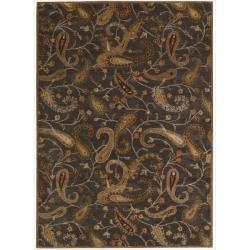 Nourison Hand-tufted Firenze Black Rug (5'3 x 7'4)
