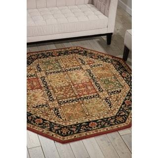 Nourison Parthia Multicolor Floral Wool Rug (5'6 x 5'6)