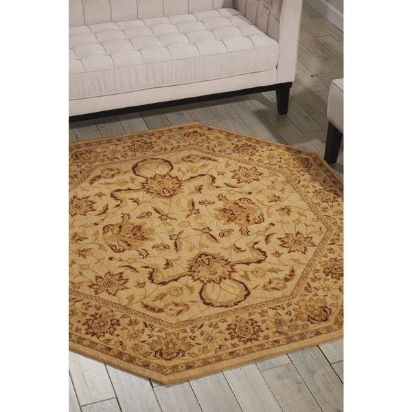 Nourison Parthia Sand Wool Rug 5 6 X 5 6 Free Shipping