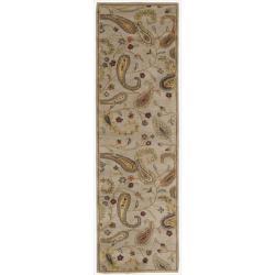 Nourison Hand-tufted Firenze Beige Area Rug (2' 3 x 8')