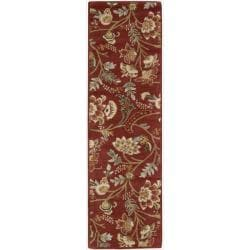 Nourison Hand-tufted Firenze Red Rug (2'3 x 8')