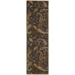 Nourison Hand-tufted Firenze Black Rug (2'3 x 8')