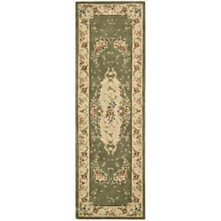Nourison Hand-tufted Chateau Provence Olive Rug (2'3 x 8')