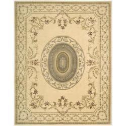 Nourison Hand-tufted Chateau Provence Ivory Rug (3'9 x 5'9)