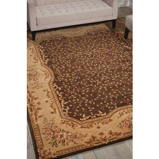 Nourison Hand-tufted Chateau Provence Brown Rug (7'9 x 9'9)