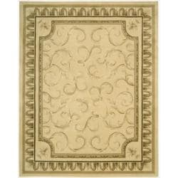 Nourison Hand-tufted Chateau Provence Gold Rug (7'9 x 9'9)