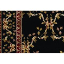 Nourison Ashton House Black Wool Rug (3'6 x 5'6)