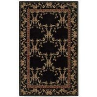 Nourison Ashton House Black Wool Rug - 3'6 x 5'6