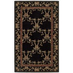 "Nourison Ashton House Black Wool Rug - 3'6"" x 5'6"""