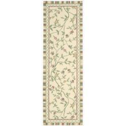 Nourison Hand-hooked Bijoux Ivory Wool Rug (2'6 x 8)