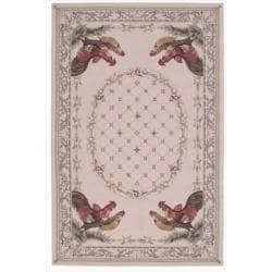 Nourison Hand-hooked Bijoux Beige Wool Rug (8'6 x 11'6)