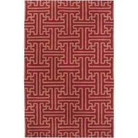 Hand-woven Red Alba Wool Area Rug (8' x 11')