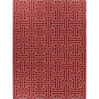 Hand-woven Red Alba Wool Area Rug - 8' X 11'