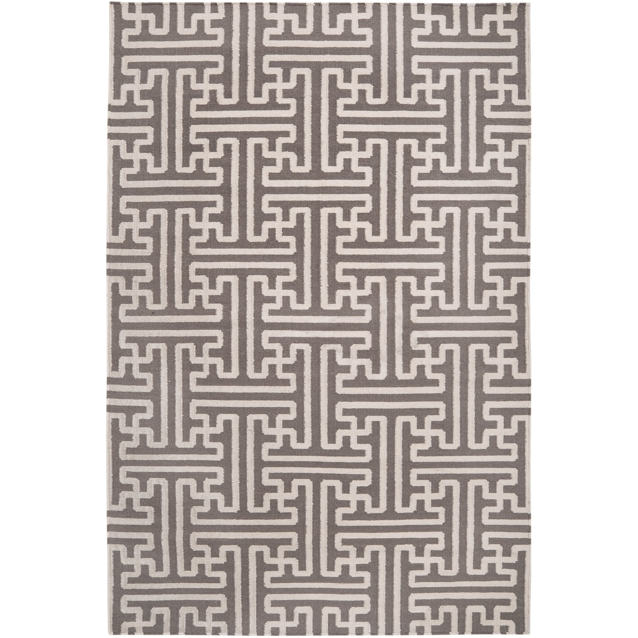 Hand-woven Alfex Wool Rug (3'6 x 5'6), Grey #Alfex-3656