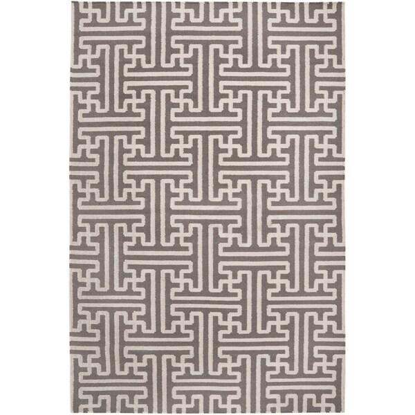Hand-woven Alfex Wool Area Rug - 5' x 8'