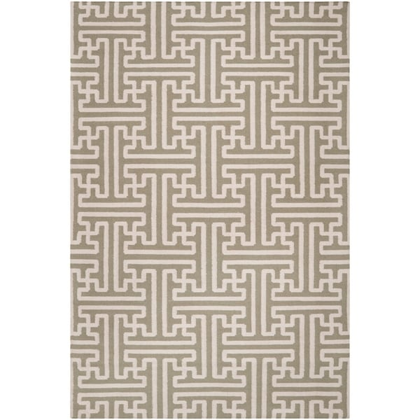 Hand-woven Altanus Wool Area Rug - 5' x 8'