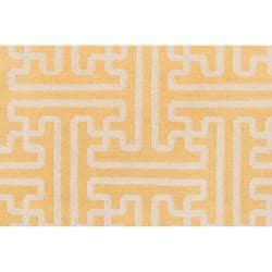 Hand-woven Yellow Antima Wool Rug (3'6 x 5'6) - Thumbnail 2