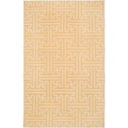 Hand-woven Yellow Antima Wool Area Rug (3'6 x 5'6) - Thumbnail 0