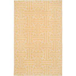 Hand-woven Yellow Antima Wool Area Rug - 5' x 8' - Thumbnail 0