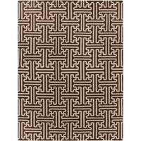 Hand-woven Brown Acadia Wool Area Rug - 8' X 11'