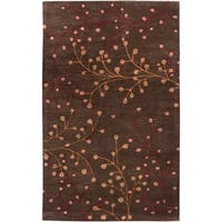 Hand-tufted Brown Briard Wool Area Rug - 10' x 14'