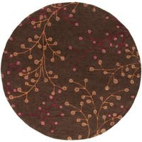 Hand-tufted Brown Briard Wool Area Rug - 6'