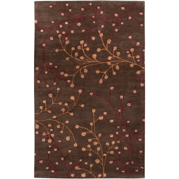 Hand-tufted Brown Briard Wool Area Rug - 9' x 12'