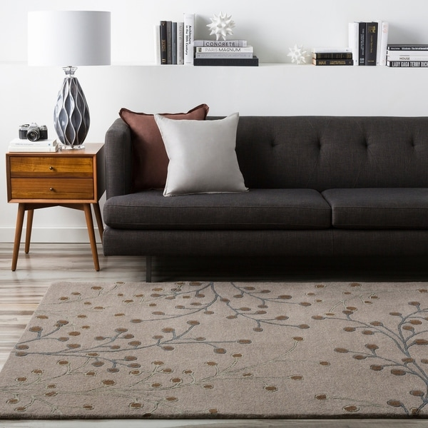 Hand-tufted Gray Canaan Wool Area Rug - 6' x 9'