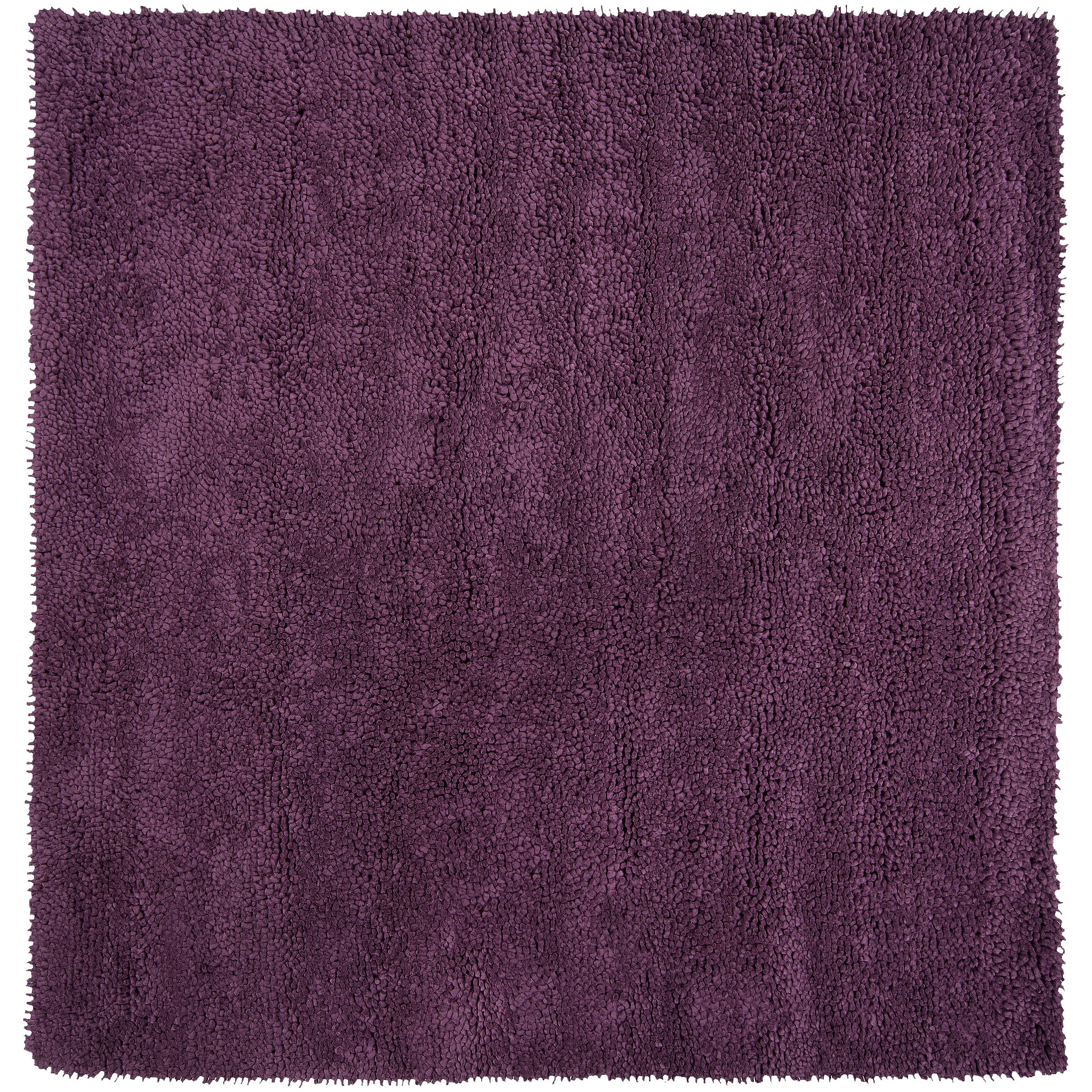 Hand-woven Purple Birks Colorful Plush Shag New Zealand Felted Wool Rug (8' Square)