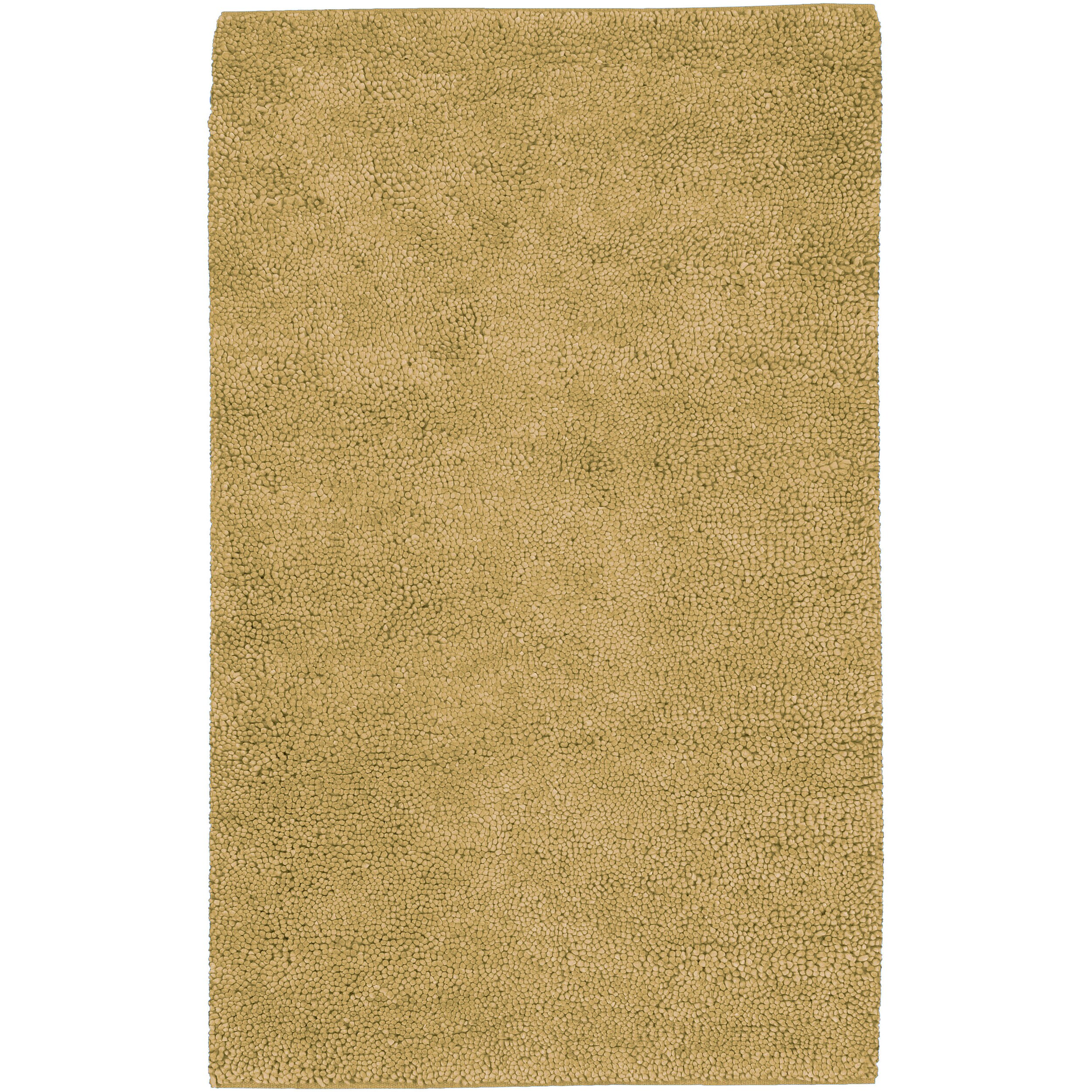 Hand-woven Gold Blancher Colorful Plush Shag New Zealand Felted Wool Rug (3'6 x 5'6)