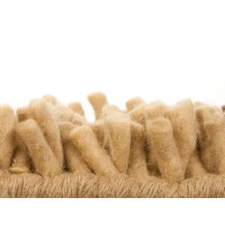Hand-woven Gold Blancher Colorful Plush Shag New Zealand Felted Wool Rug (3'6 x 5'6) - Thumbnail 1