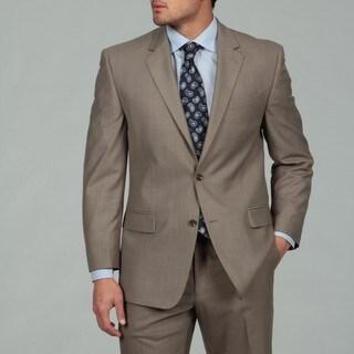 MICHAEL Michael Kors Men's Light Brown Sharkskin Finish Suit FINAL SALE