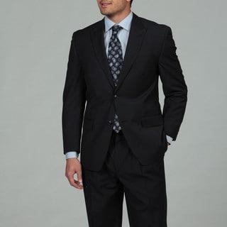 Sean John Men's Navy Stripe 2-button Suit
